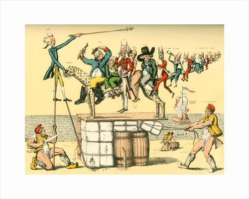 A complex French satirical cartoon from the revolutionary era aimed against English royal family by Anonymous