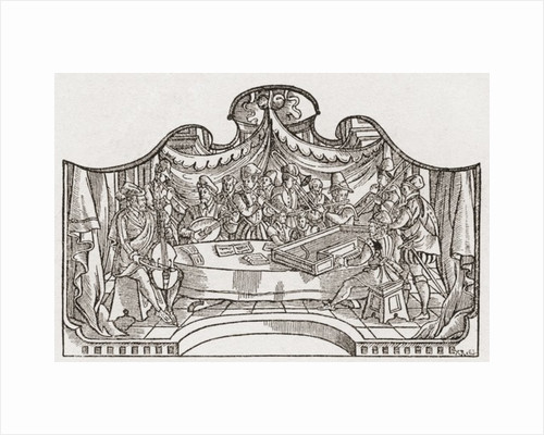 An orchestra from the Tudor period in England by Anonymous