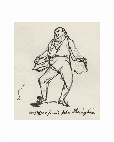 A pen and ink sketch by George Cruikshank of his friend Mr. John Sheringham by Anonymous