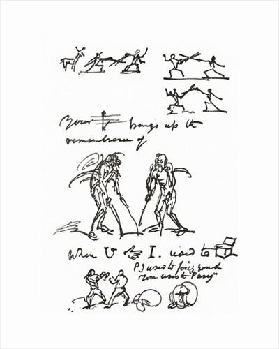 Hieroglyphic letter written by George Cruikshank to Mr. Parry. George Cruikshank by Anonymous