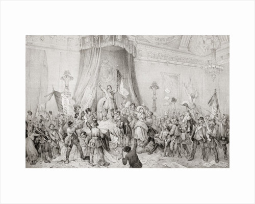 The Paris Revolution of 1848, the mob in the throne room of the Tuileries by Anonymous