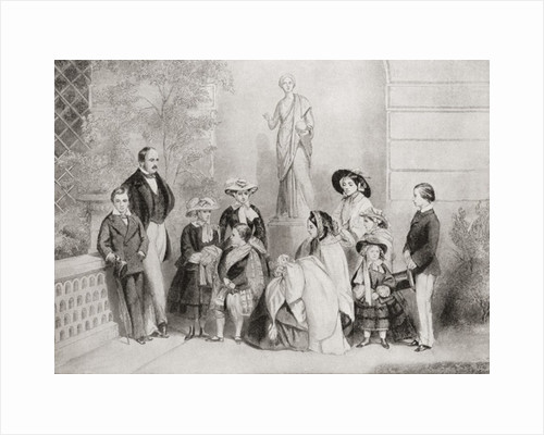 The Royal family at Osborne House, Isle of Wight, when Albert Edward, was sixteen by Anonymous
