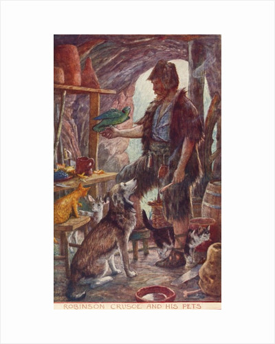 Robinson Crusoe and his pets by Anonymous