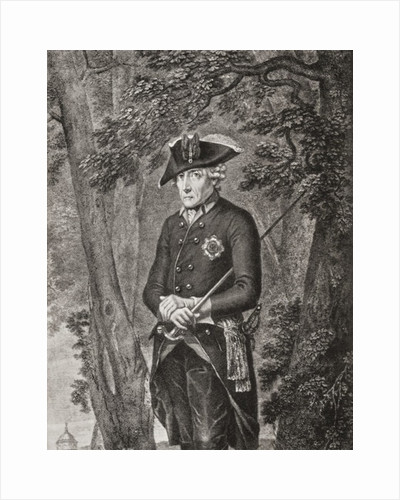 Frederick II. King in Prussia of the Hohenzollern dynasty by Anonymous