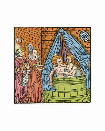 Bathing scene from the middle ages by Anonymous