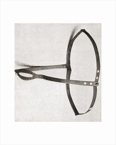 15th century iron chastity belt by Anonymous