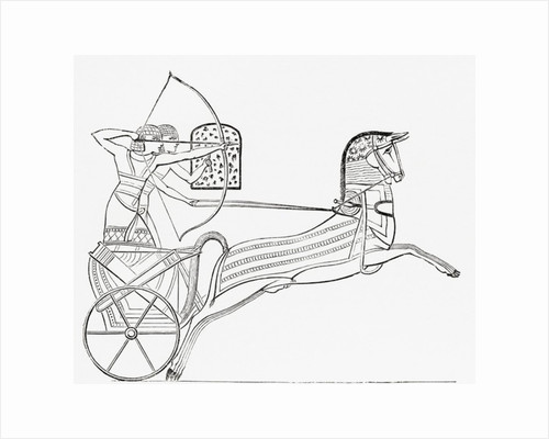 Egyptian war chariot by Anonymous