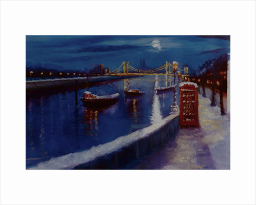 Chelsea Winter Thames Embankment, 2000 by Lee Campbell