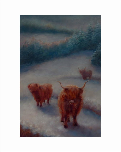 Highland Cattle, 2018 by Lee Campbell