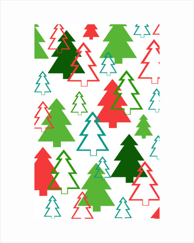 Overlaid Christmas Trees by Louisa Hereford