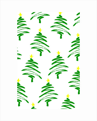 Funky Christmas Trees by Louisa Hereford