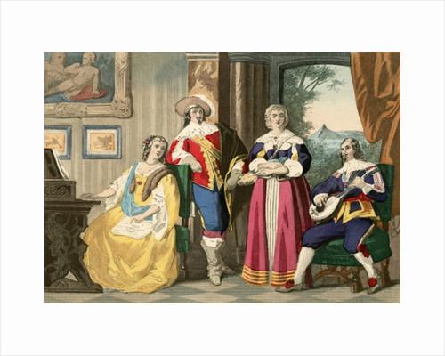 Cavalier costume by English School