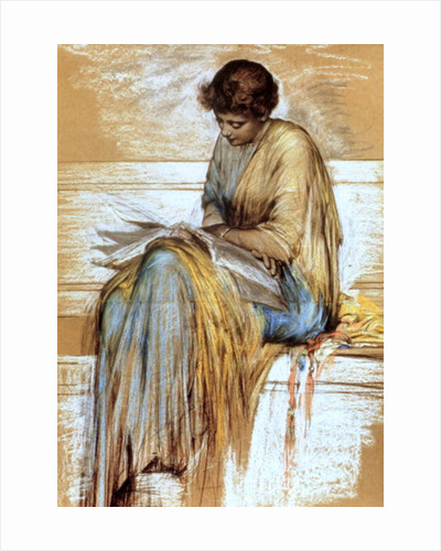 Female Figure Study by Albert Joseph Moore