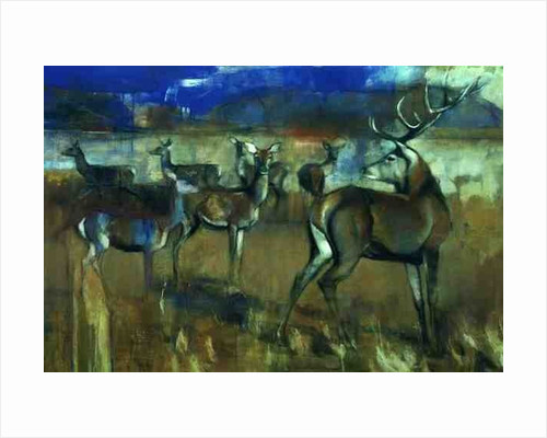 Gathering Deer, 1998 by Mark Adlington