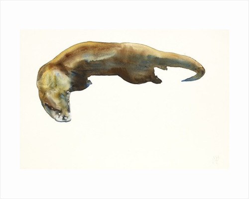 Gold, watercolour on paper by Mark Adlington