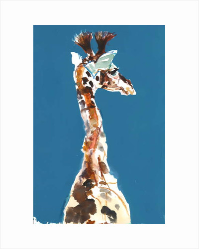 Baby Masai Giraffe, 2018 by Mark Adlington