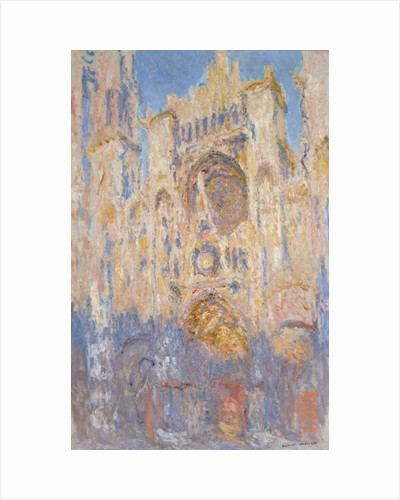 Rouen Cathedral, Effects of Sunlight, Sunset, 1892 by Claude Monet