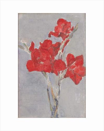 Red Gladioli, c.1906 by Piet Mondrian