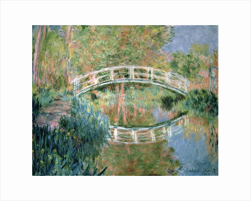 The Japanese Bridge, Giverny, 1892 by Claude Monet