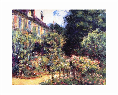 Giverny, the house from the garden, 1913 by Claude Monet