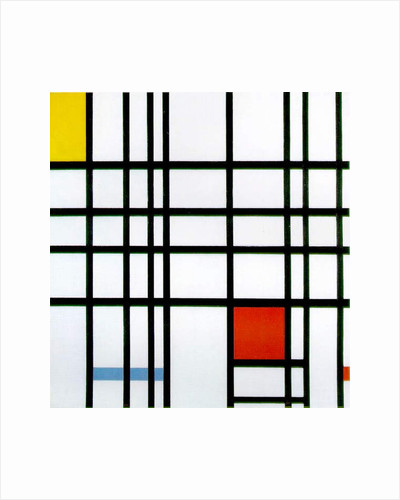 Composition with Red, Yellow and Blue, 1921 by Piet Mondrian