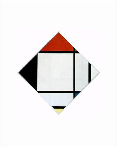 Lozenge Composition in Red, Black, Blue and Yellow, 1925 by Piet Mondrian