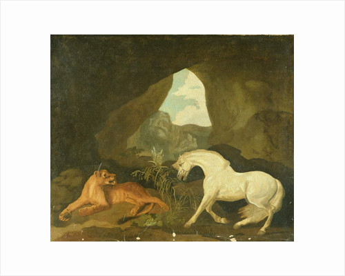Lioness and white stallion, 1760 by George Stubbs
