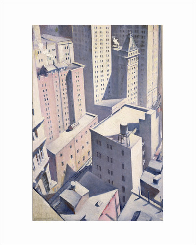 Looking Down on Downtown, 1920 by Christopher Richard Wynne Nevinson