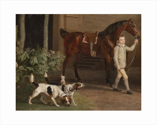 Detail from William Henry Cavendish Bentinck, 3rd Duke of Portland in front of Welbeck Abbey Riding Stables, 1766-7 by George Stubbs