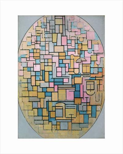 Tableau III: Composition in Oval, 1914 by Piet Mondrian