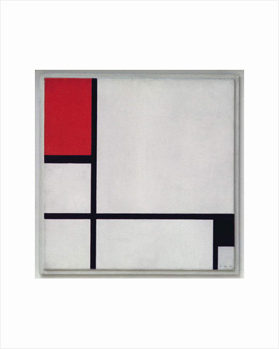 Composition No.1, with Red and Black, 1929 by Piet Mondrian