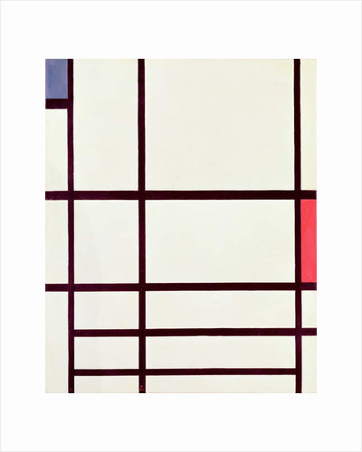 Composition in Red, Blue and White: II, 1937 by Piet Mondrian