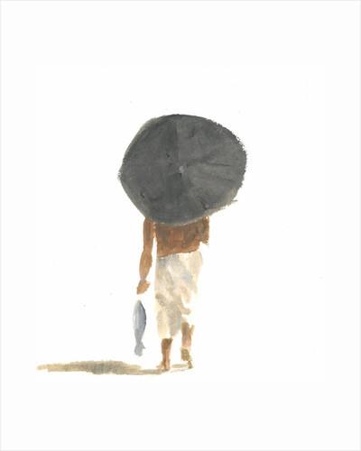 Umbrella & Fish by Lincoln Seligman
