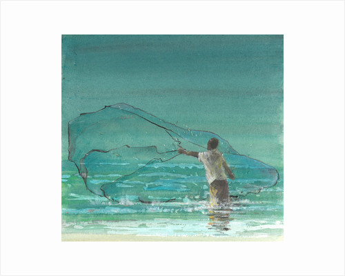 Lone Fisherman 3 by Lincoln Seligman