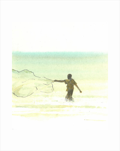 Lone Fisherman 6 by Lincoln Seligman