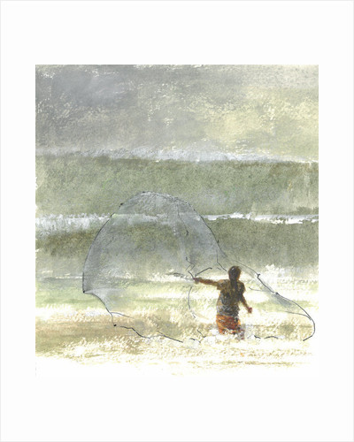 Lone Fisherman 4 by Lincoln Seligman