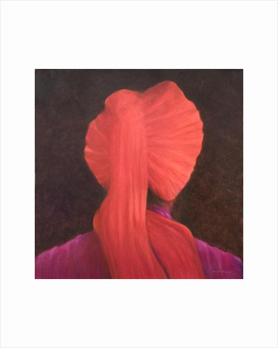 Red Turban in Shadow by Lincoln Seligman