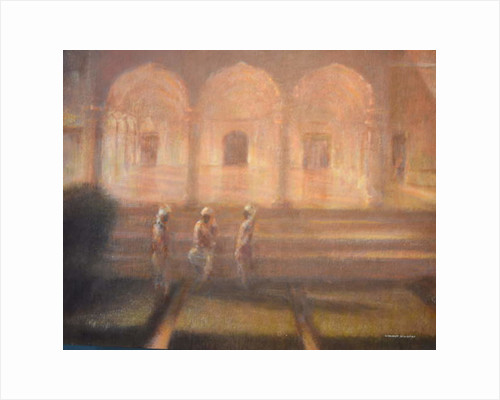 Gardeners at Amber Fort by Lincoln Seligman