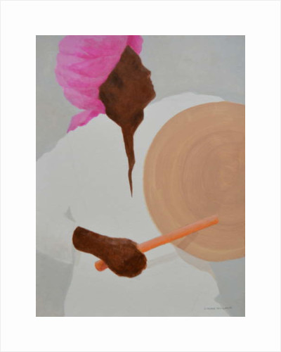 Drummer, Pink Turban by Lincoln Seligman