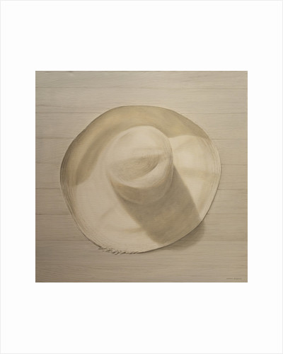 Travelling Hat on Dusty Table by Lincoln Seligman