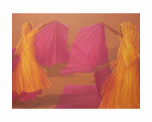 Folding Saris by Lincoln Seligman
