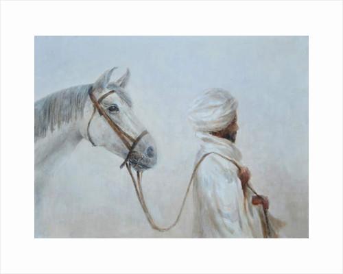 Rabari leading grey horse by Lincoln Seligman