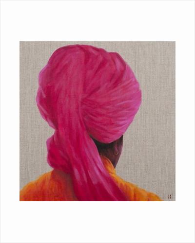Pink Turban, Orange Jacket by Lincoln Seligman