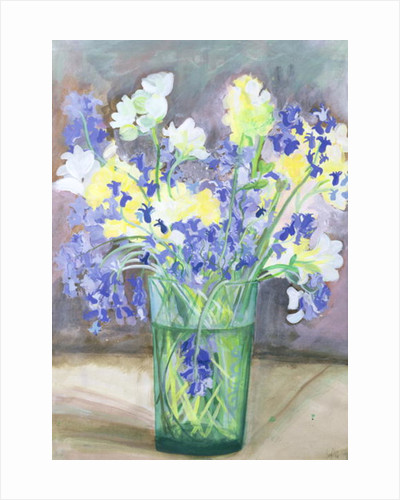 Bluebells and Yellow Flowers by Sophia Elliot
