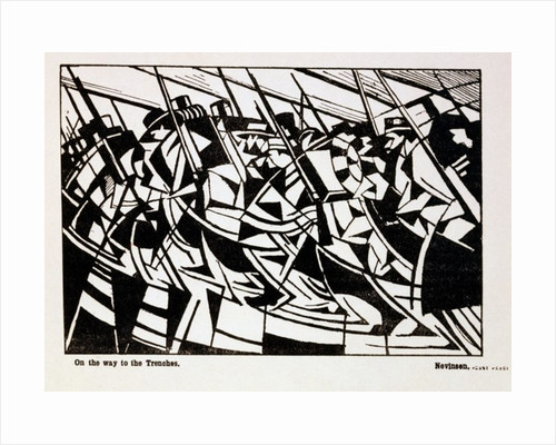 On the Way to the Trenches by Christopher Richard Wynne Nevinson