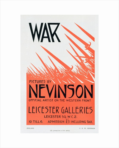 War Pictures by Nevinson, Official Artist on the Western Front by Christopher Richard Wynne Nevinson