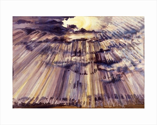 Large Sky, Sunshine through raindrops by Joan Thewsey