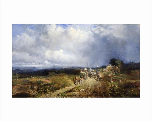 Baggage Wagons Approaching Carlisle by Samuel Bough