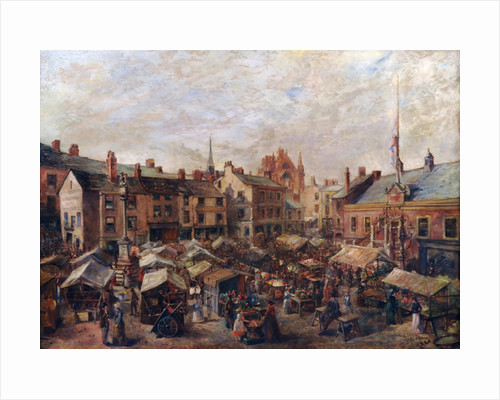 Carlisle Market Place in front of the Old Town Hall by Herbert Lees