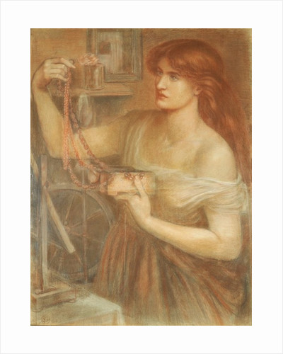 Risen at Dawn - Gretchen Discovering Faust's Jewels by Dante Gabriel Charles Rossetti